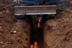 bagrování  kanalizace na zakázku
