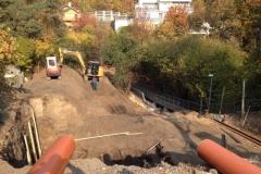 stavební práce a výkop bagrem kubota