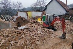 bourání zděné stavby na zakázku