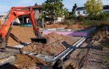 bagrovací práce na stavbě