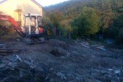 práce na stavbě v okolí radotína